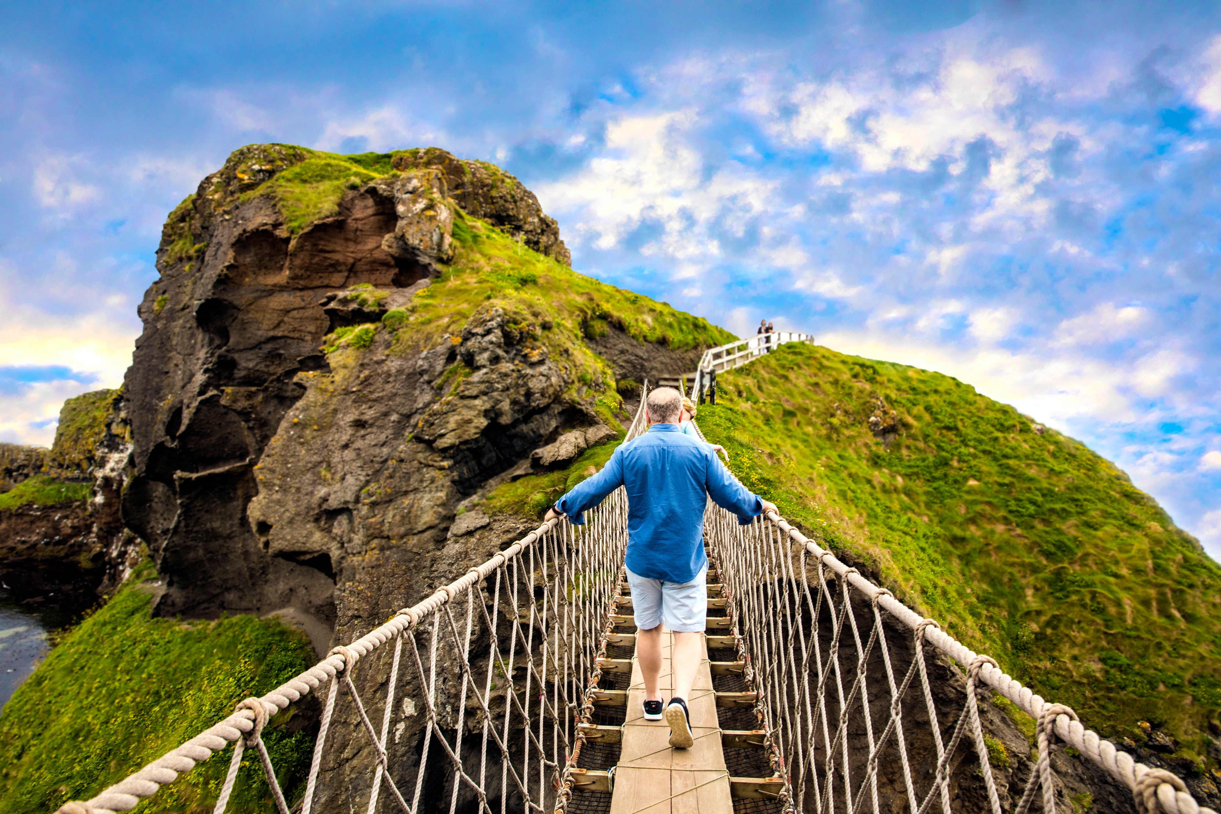 Pont à corde Carrick, Irlande du Nord